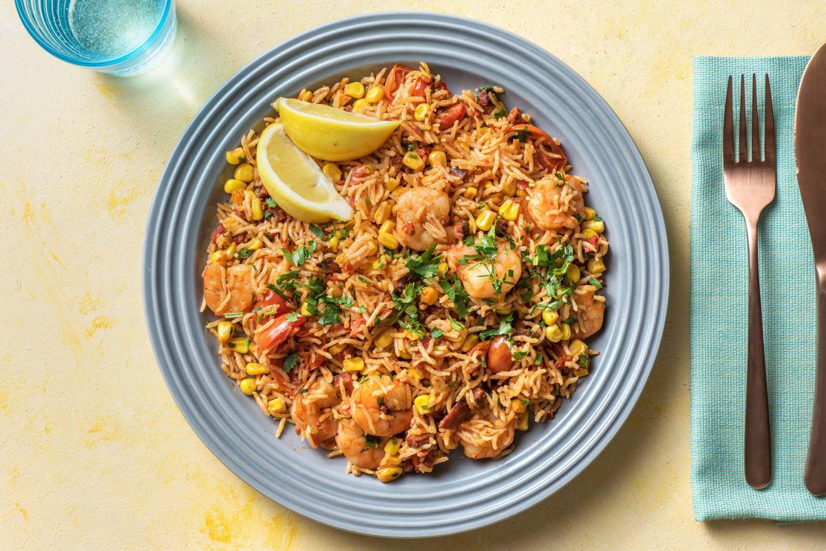 Smoky Chorizo & King Prawn Rice