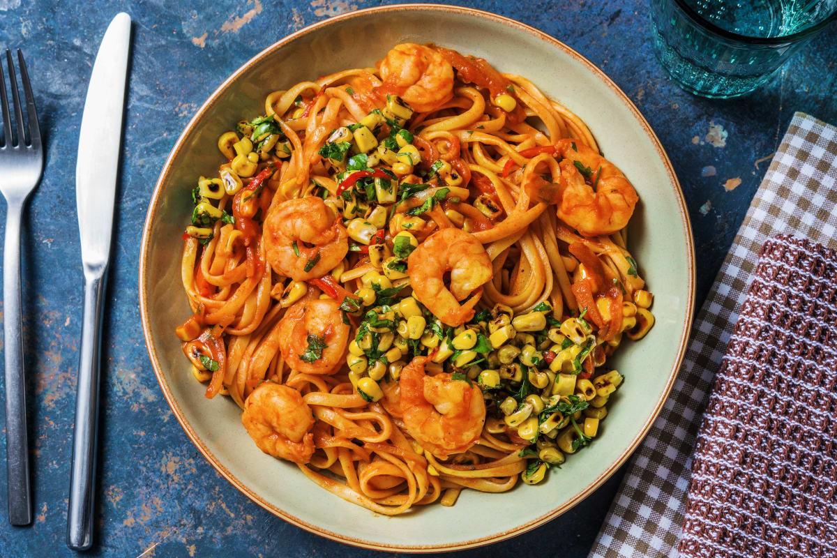 Smoky Prawn Spaghetti