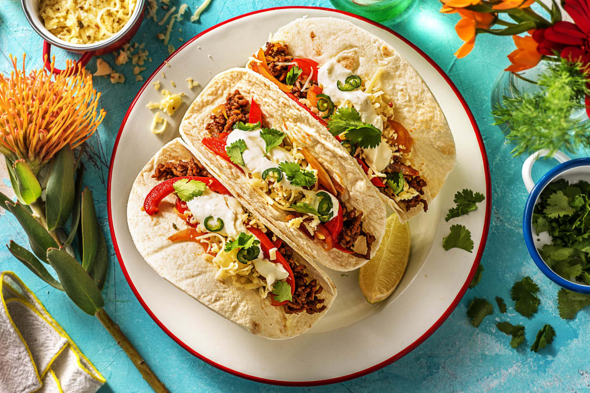 Southwestern Beef Tacos