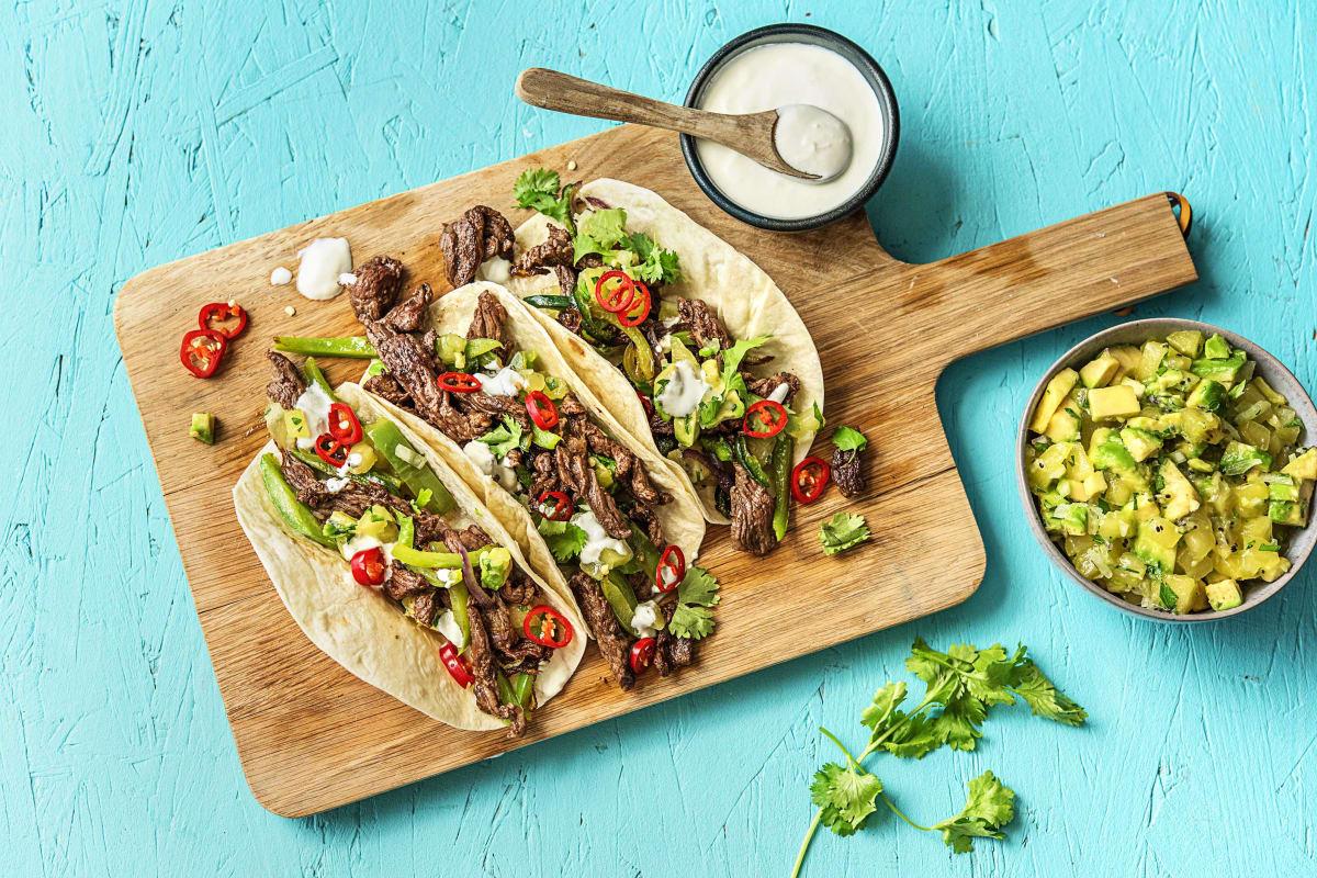 Southwestern Steak Tacos