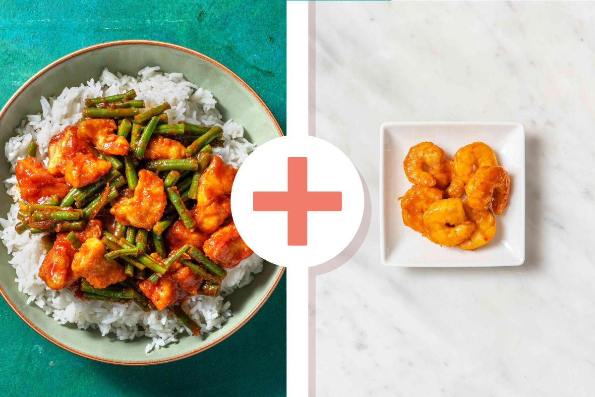 Soy and Honey Chicken Prawn Mix