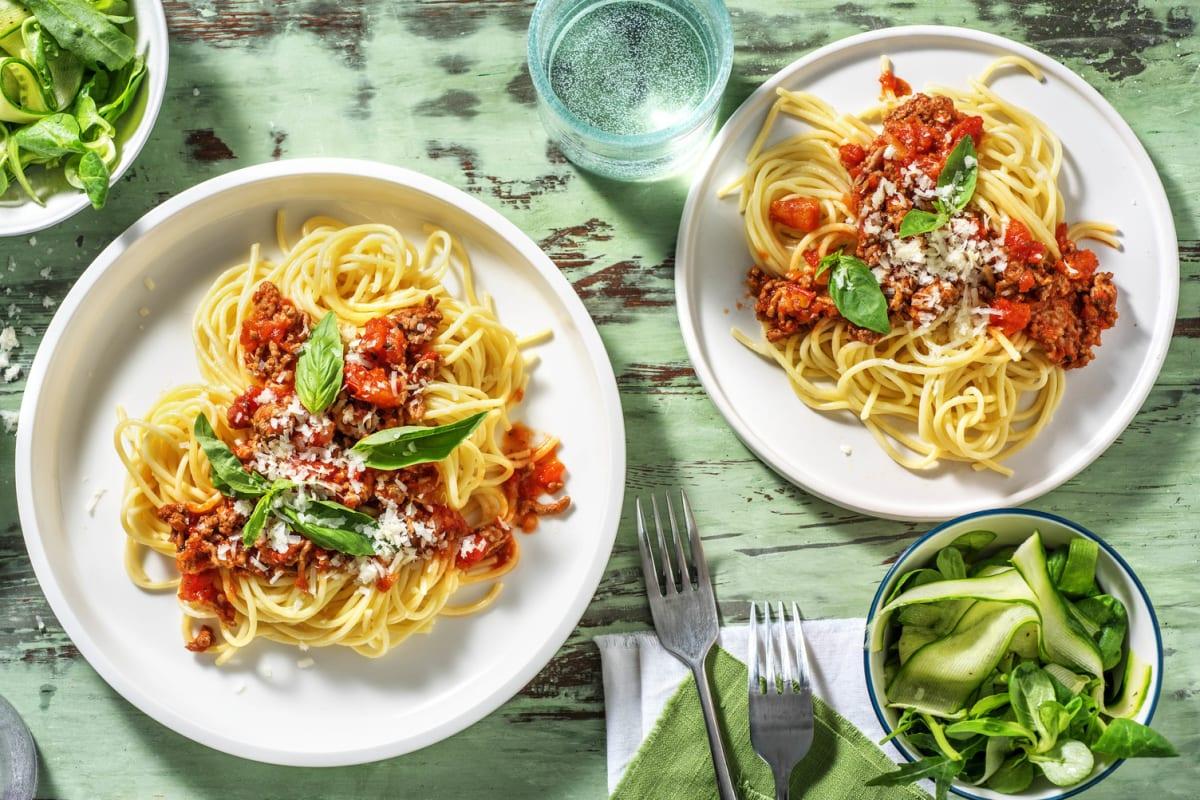 Spaghetti à la bolognaise express