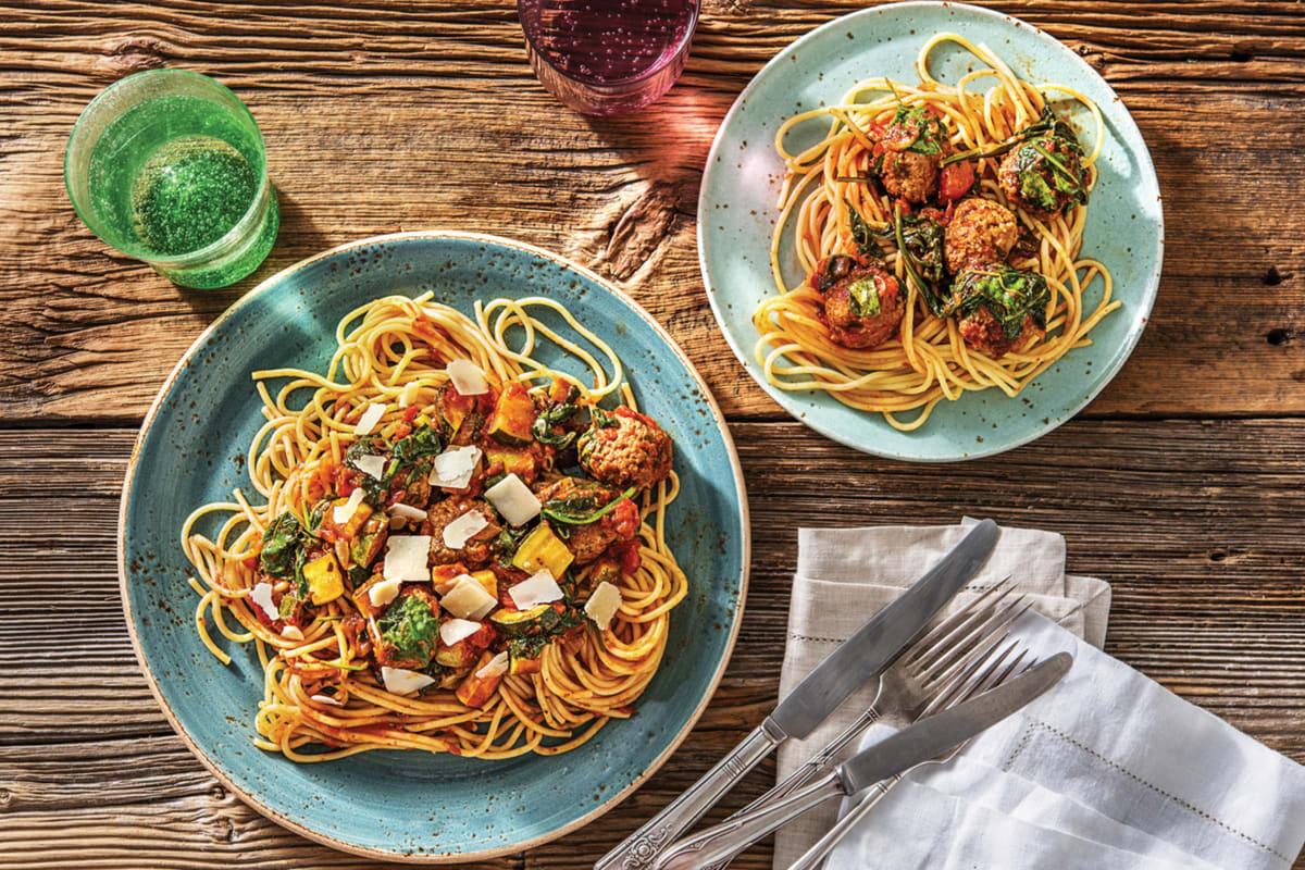 Spaghetti & Lamb Meatballs