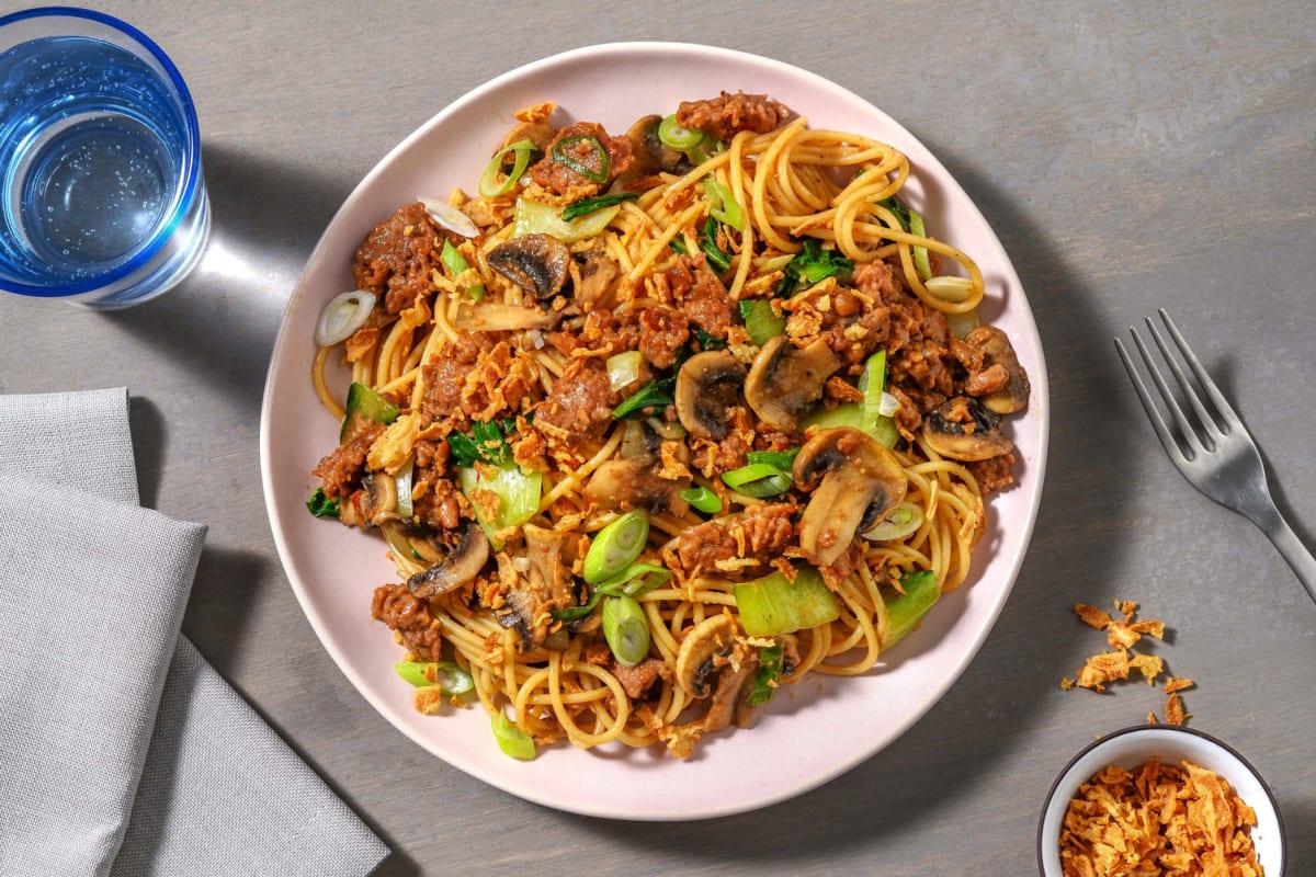 Veggie Dan Dan-Style Noodles