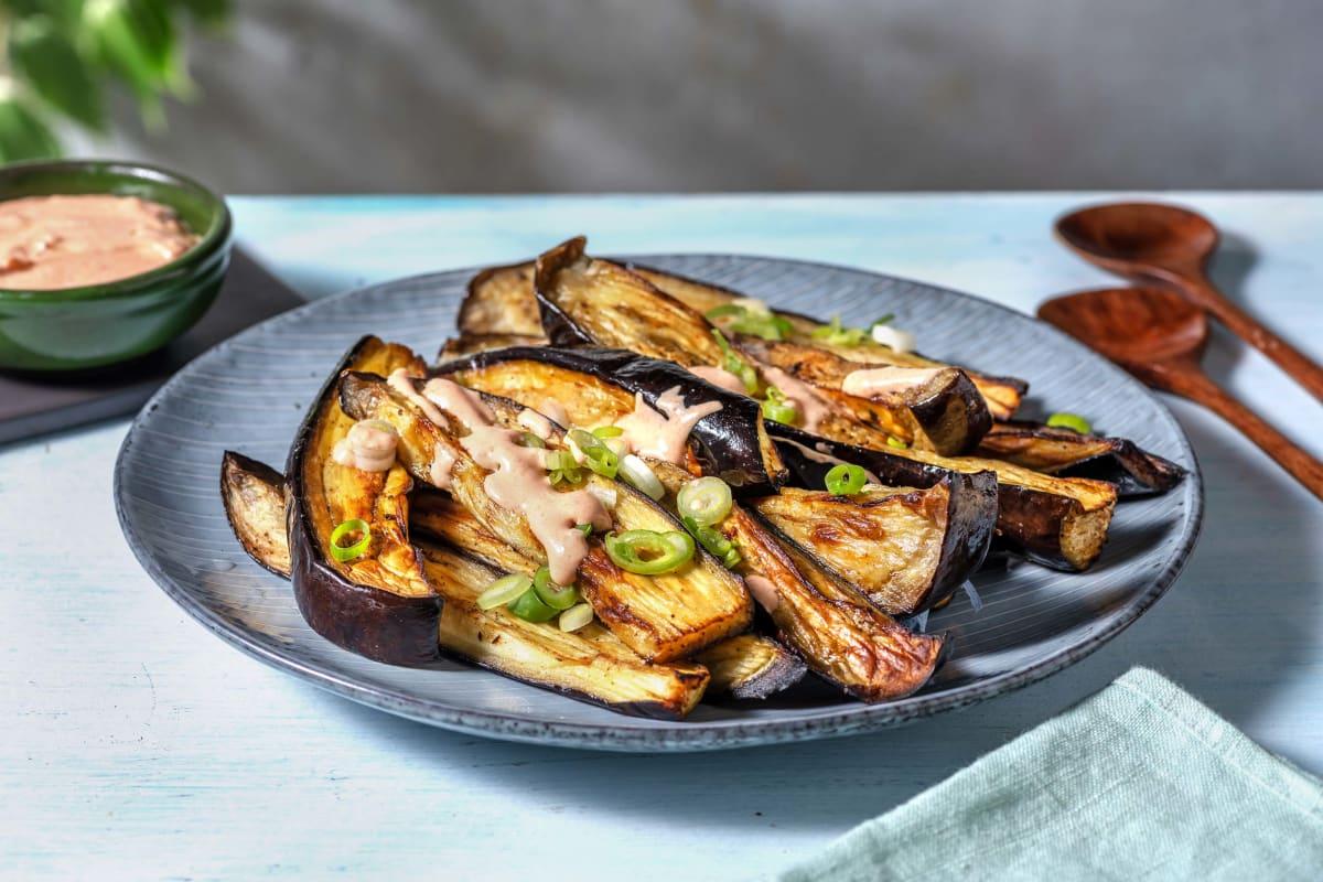 Spicy Baharat Roasted Aubergine
