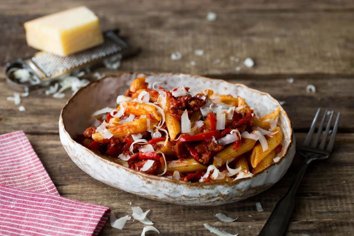 Chorizo & Tomato Penne