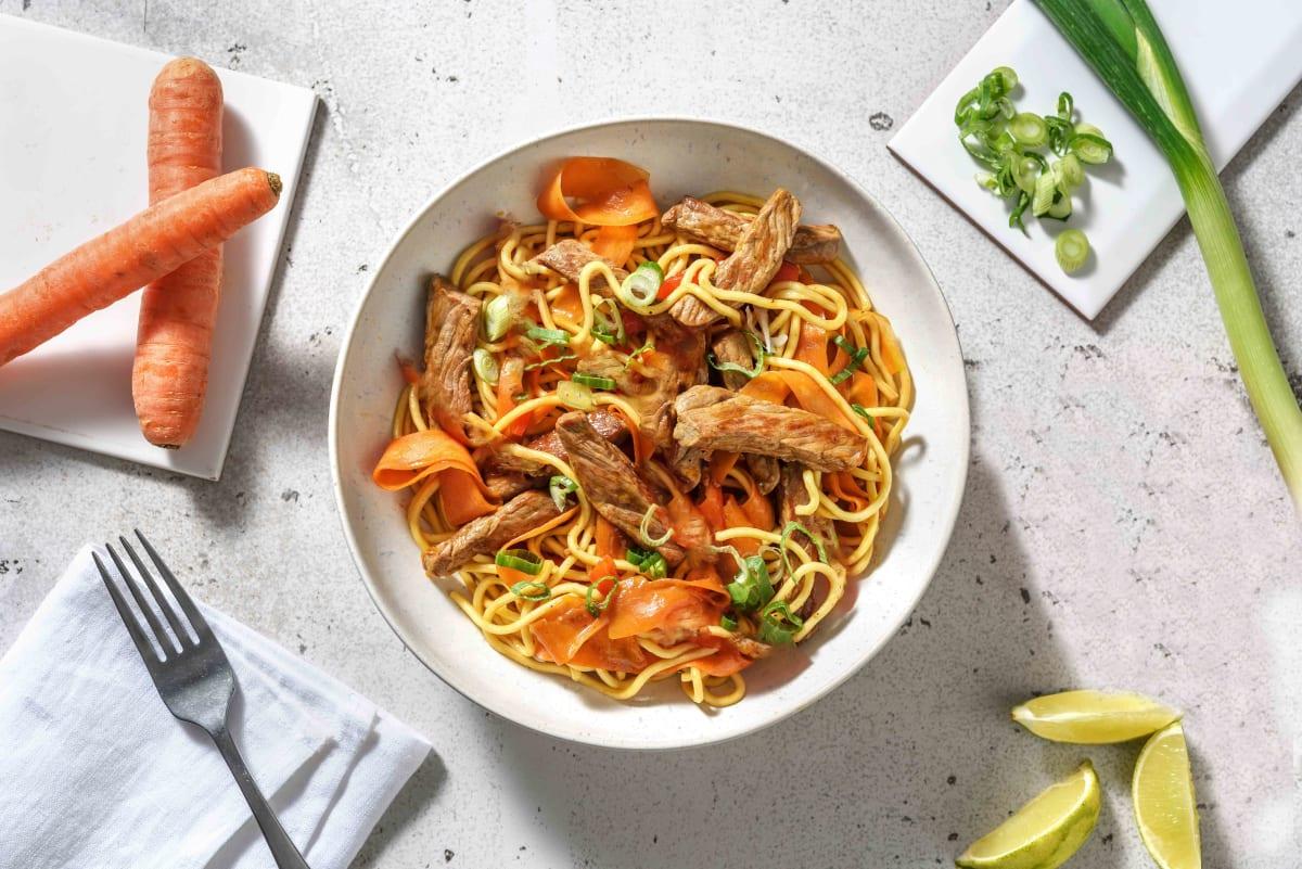 Spicy Szechuan Beef Stir-Fry Noodles