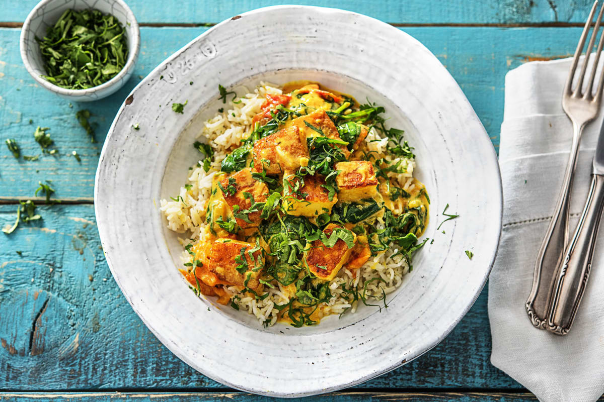 Spinach and Toasted Paneer