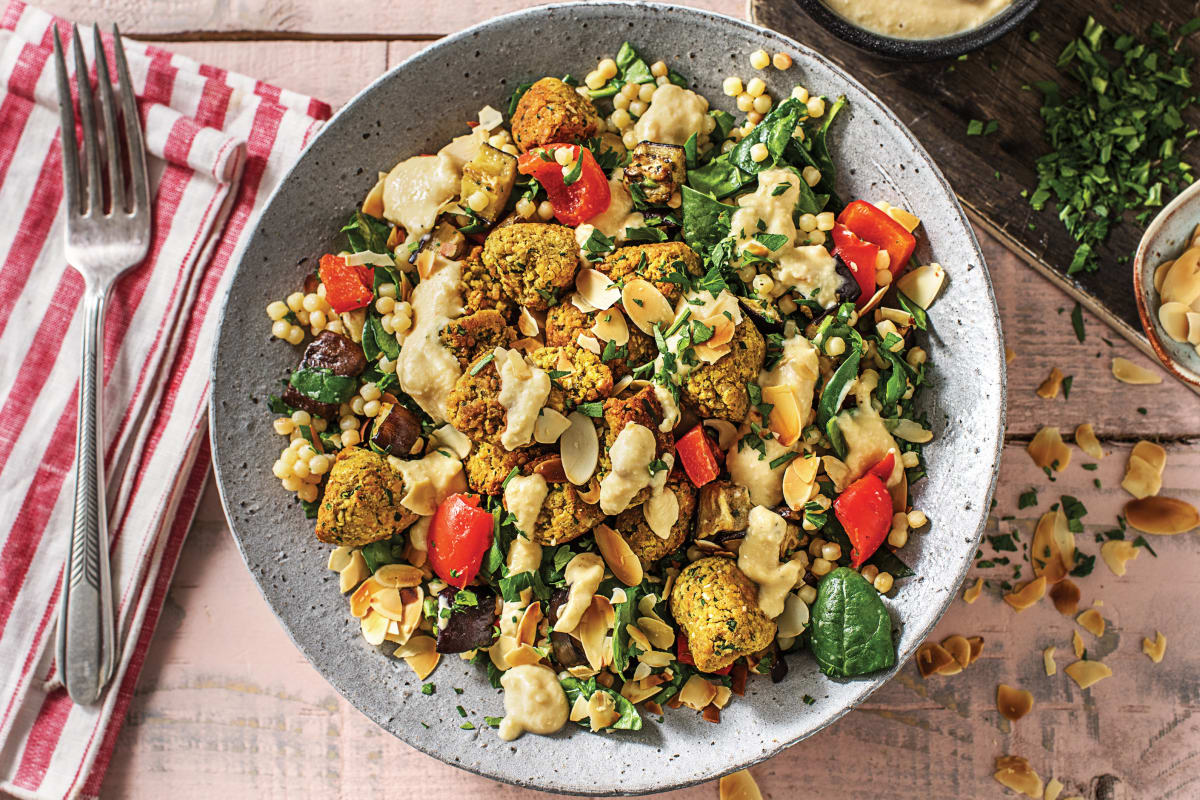 Spinach Falafel & Pearl Couscous