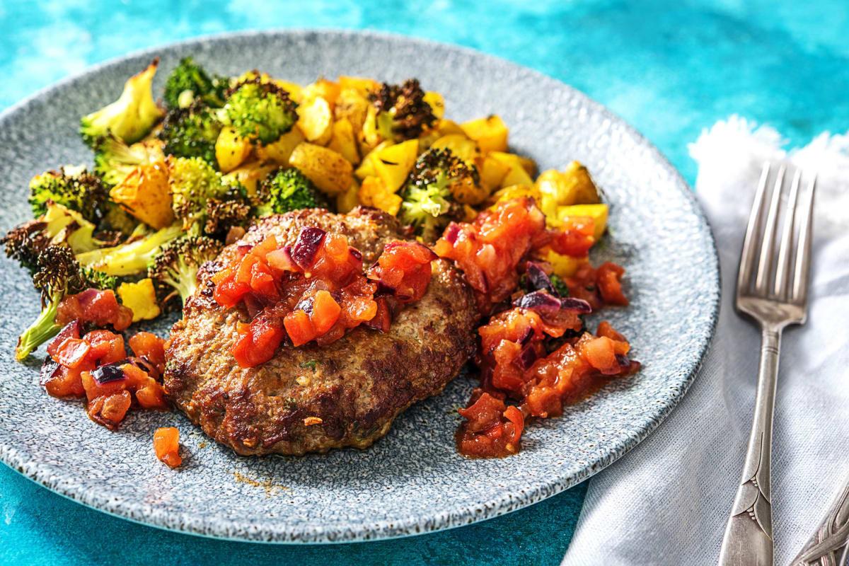 Spiced Chopped Lamb Steak