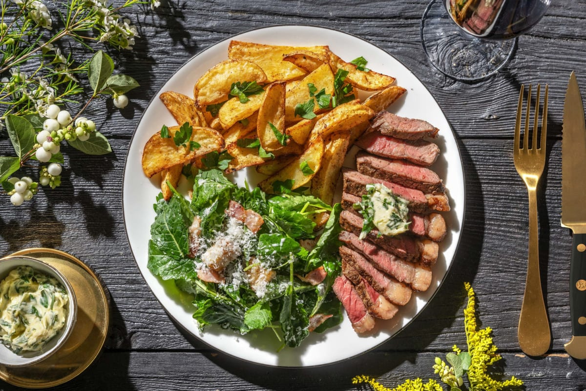 Spiced Steak with Parsley Butter