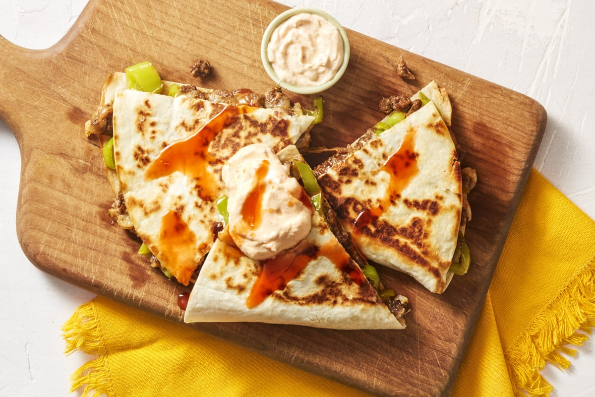 Steak & Green Pepper Quesadillas