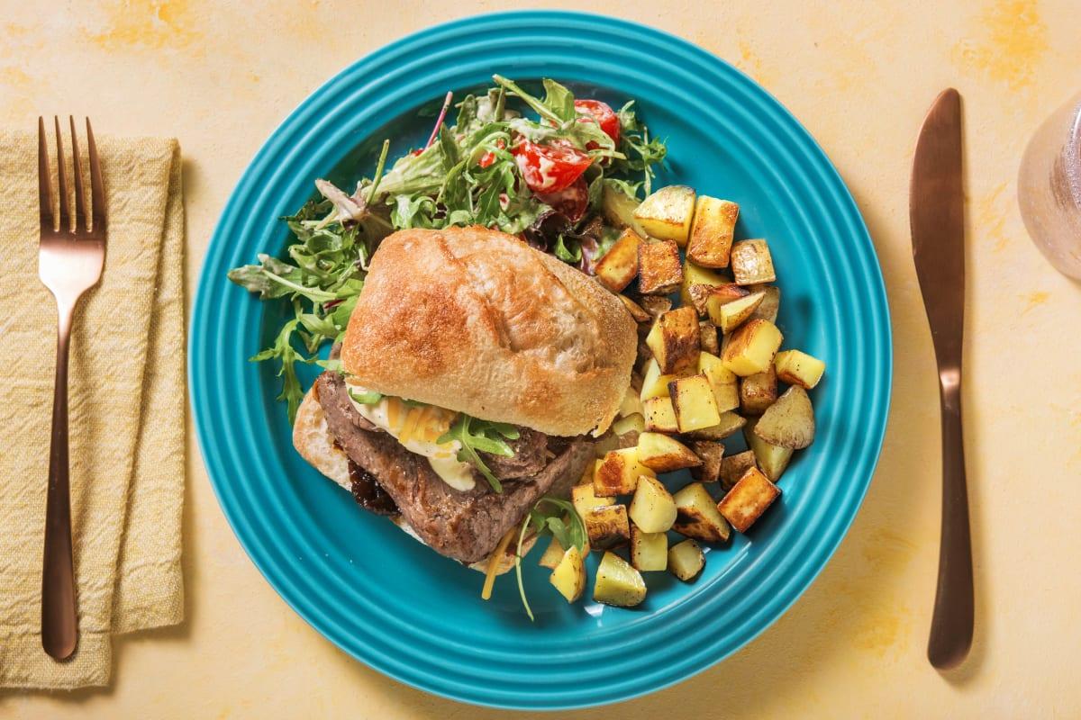 Steak Sandwich with Fried Potatoes