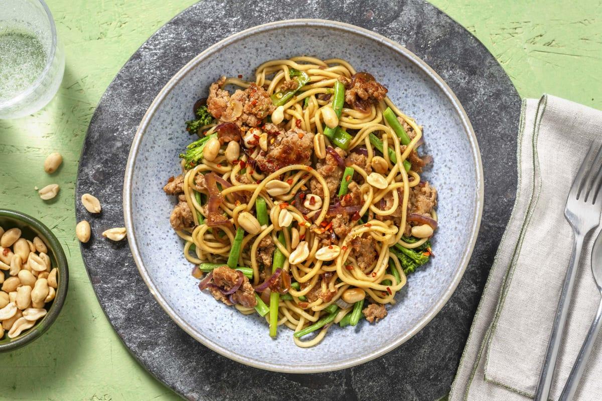 Sticky Bulgogi Pork Noodles