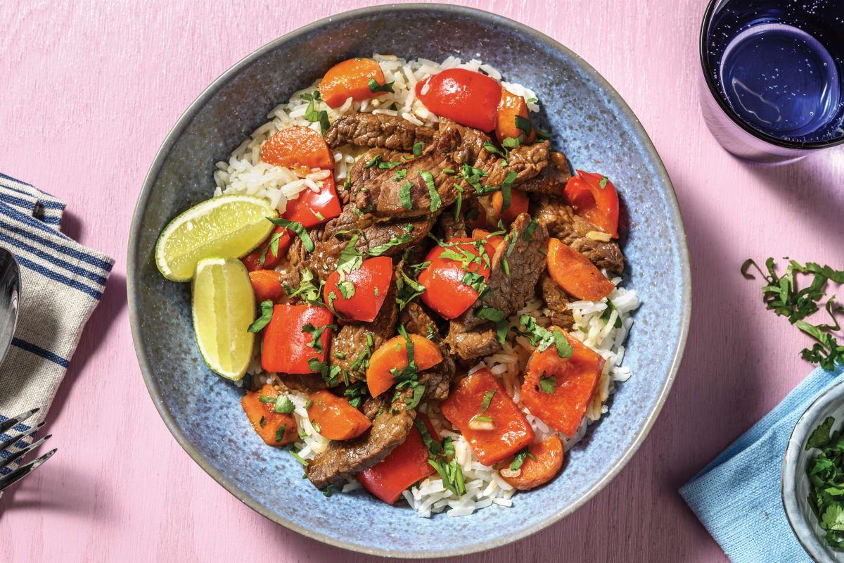 Sticky Asian Beef Stir-Fry