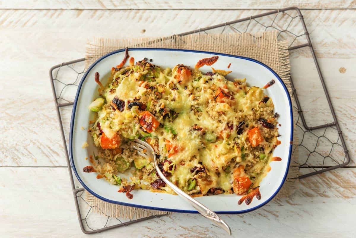 Melty Gruyere-Topped Quinoa