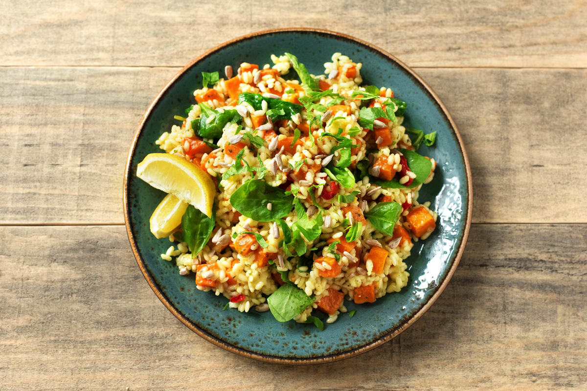 Karotten-Spinat-Risotto