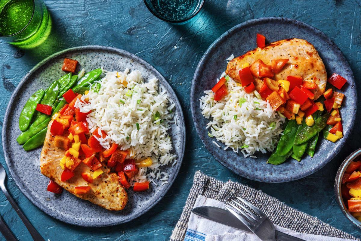 Sweet Chili Thai Turkey over Rice