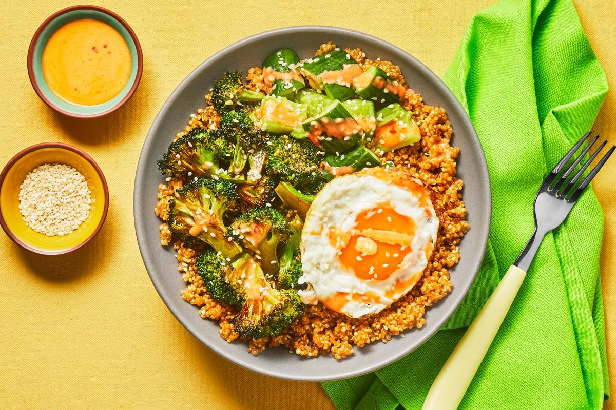 Sweet Thai Roasted Broccoli Bowls
