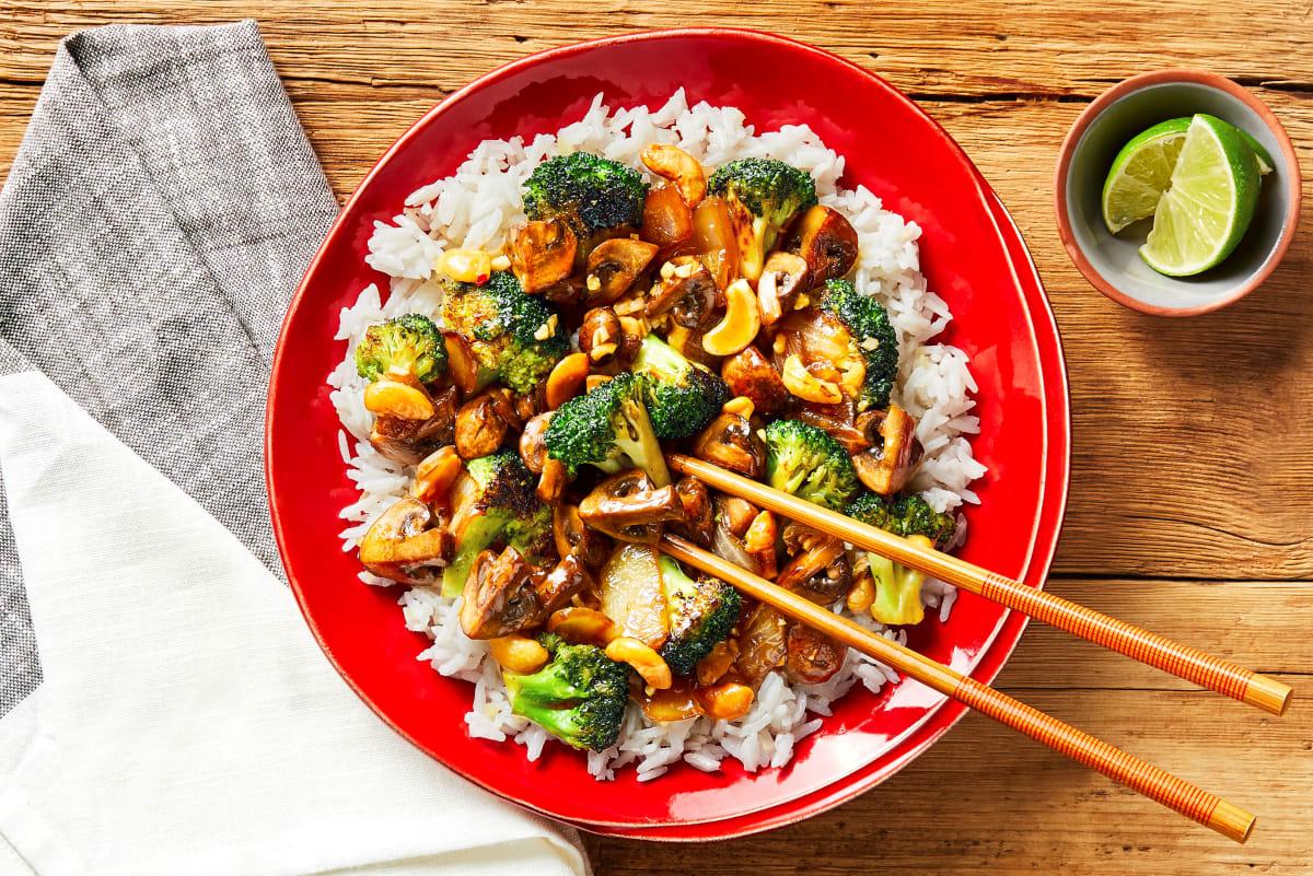 Szechuan Broccoli & Mushroom Stir-Fry