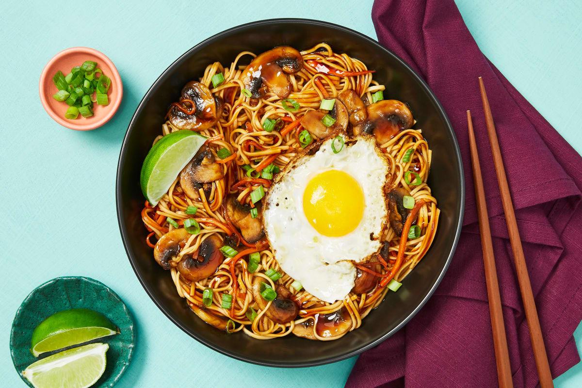 Szechuan Noodles with Mushrooms & Carrots