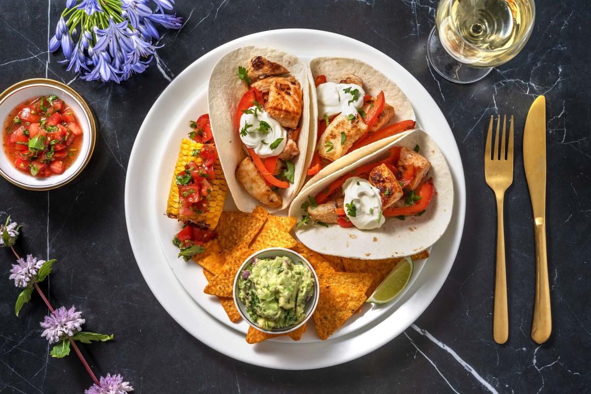 Tacos de poisson et guacamole maison
