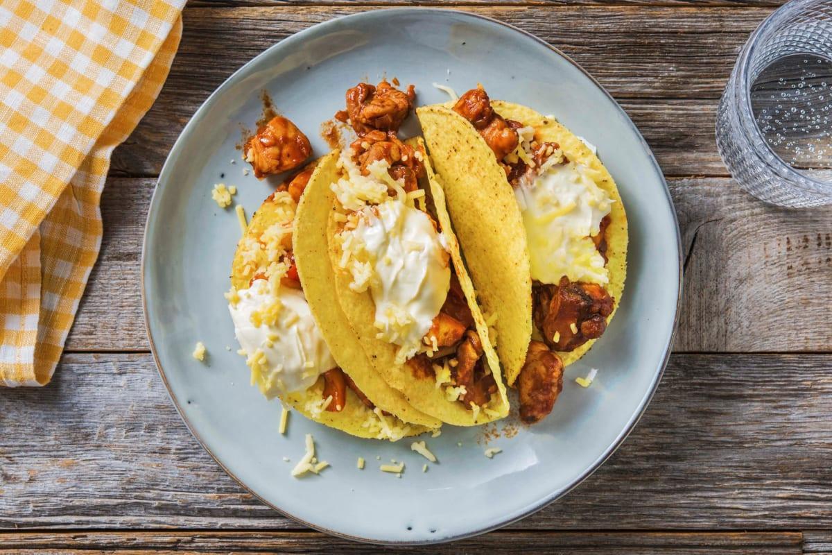 Tacos mexicains au poulet et au comté râpé