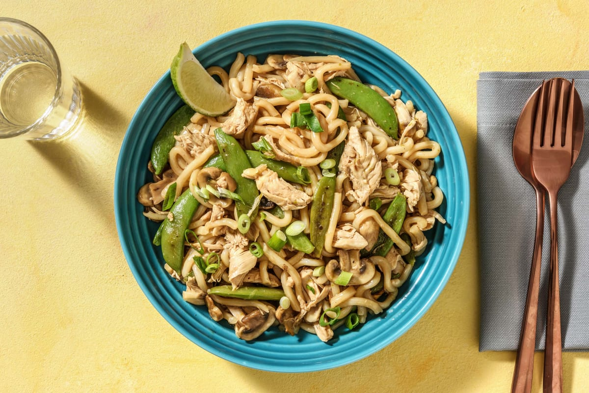 Teriyaki Chicken and Udon Noodle Stir Fry