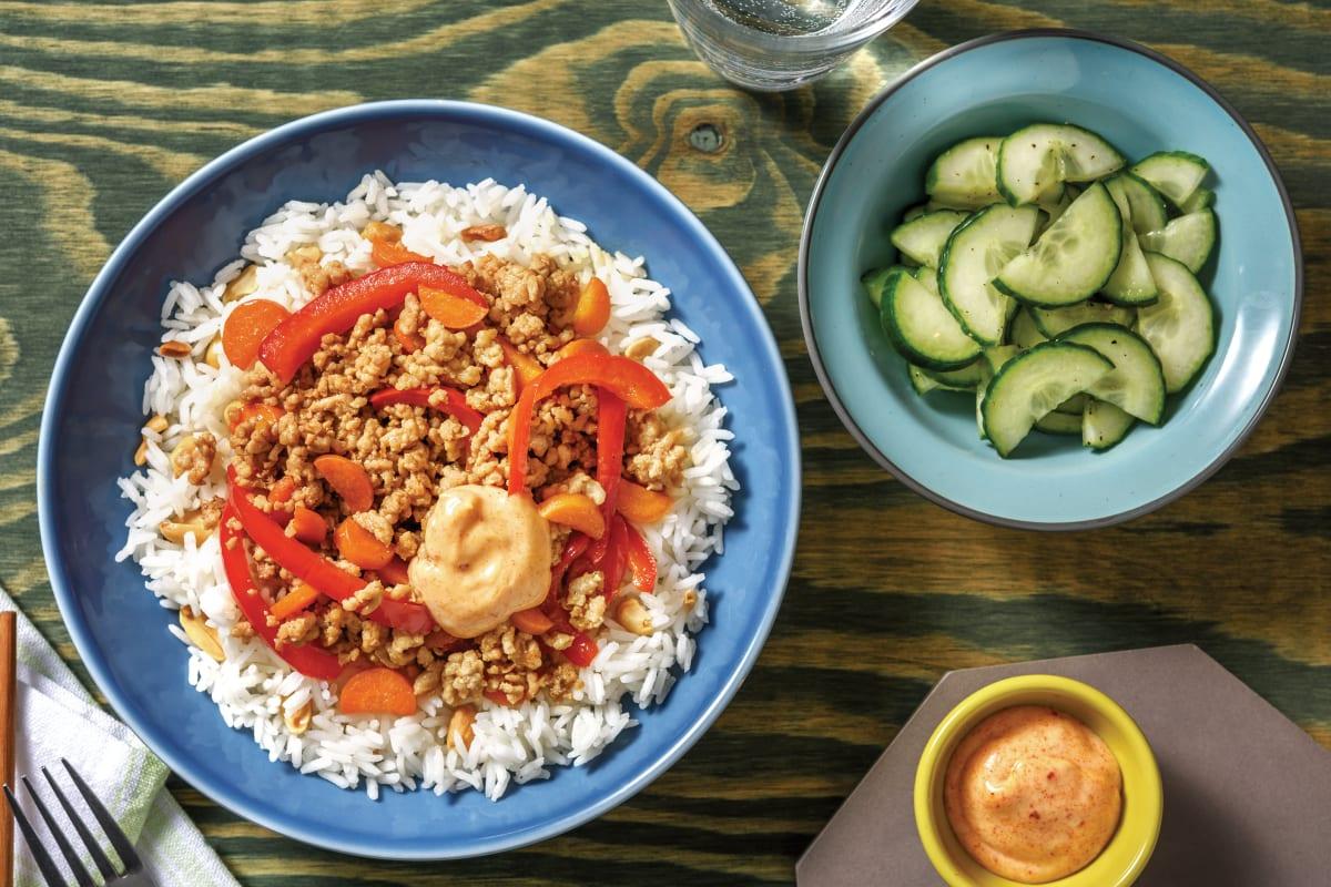 Teriyaki Pork Bowl & Peanut Rice