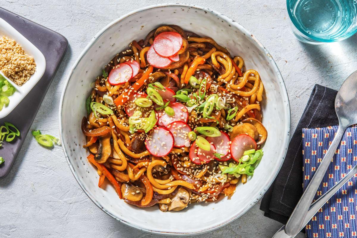 Teriyaki Udon Noodles