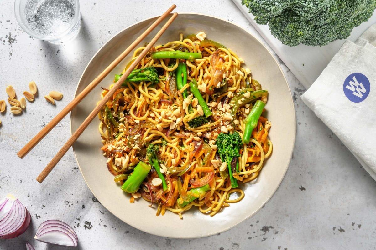 Teriyaki Veggie Noodle Stir-Fry