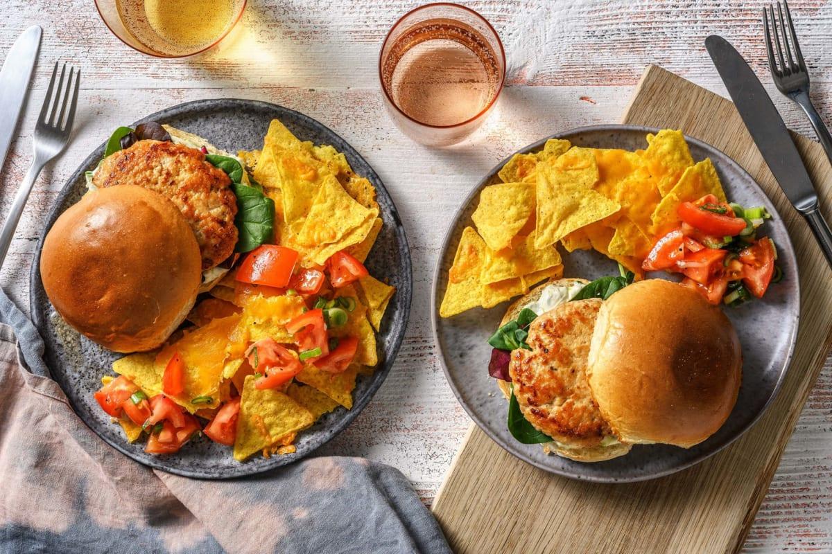 Tex Mex Turkey Burgers