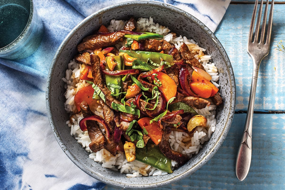 Thai Beef & Snow Pea Stir-Fry
