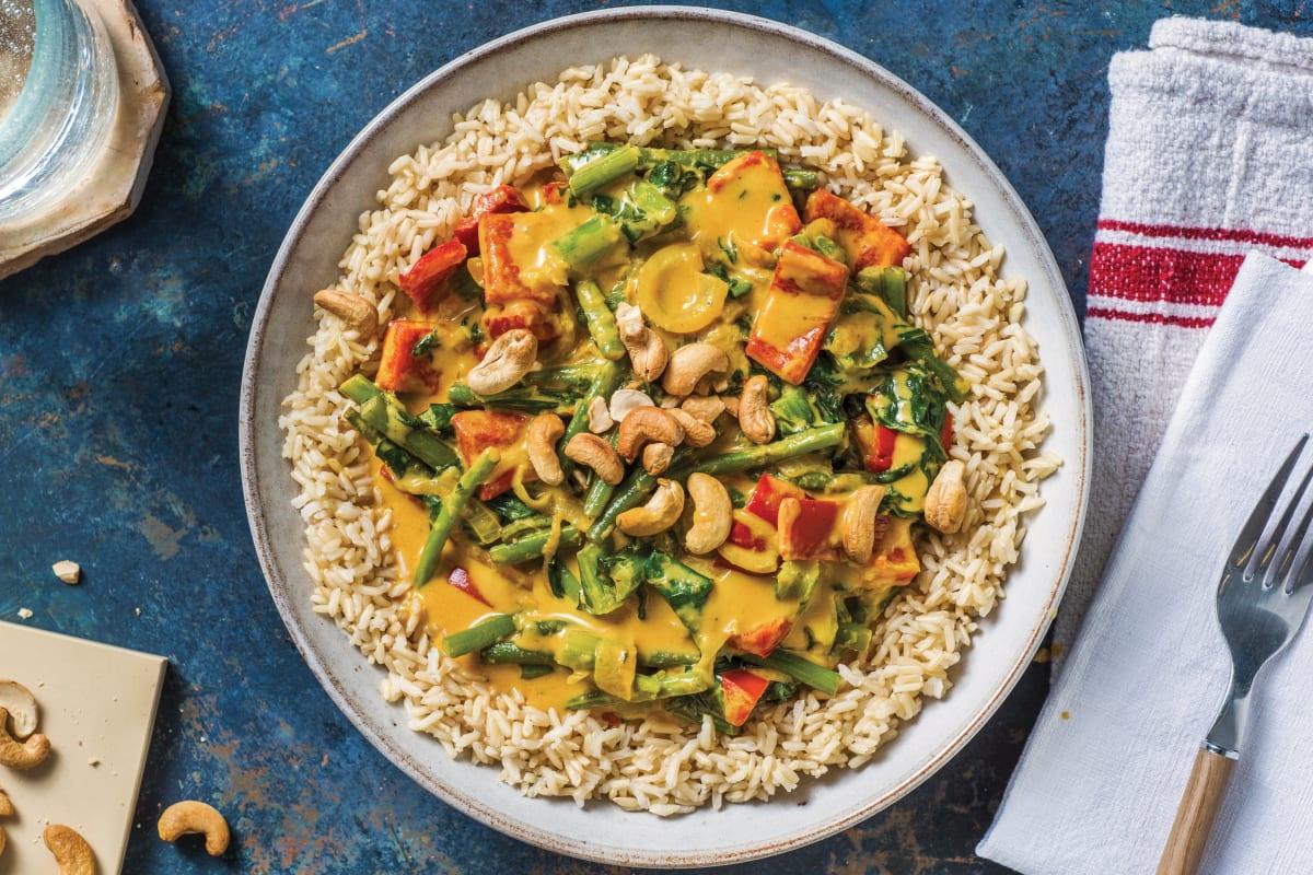 Veggie Thai Yellow Curry & Brown Rice