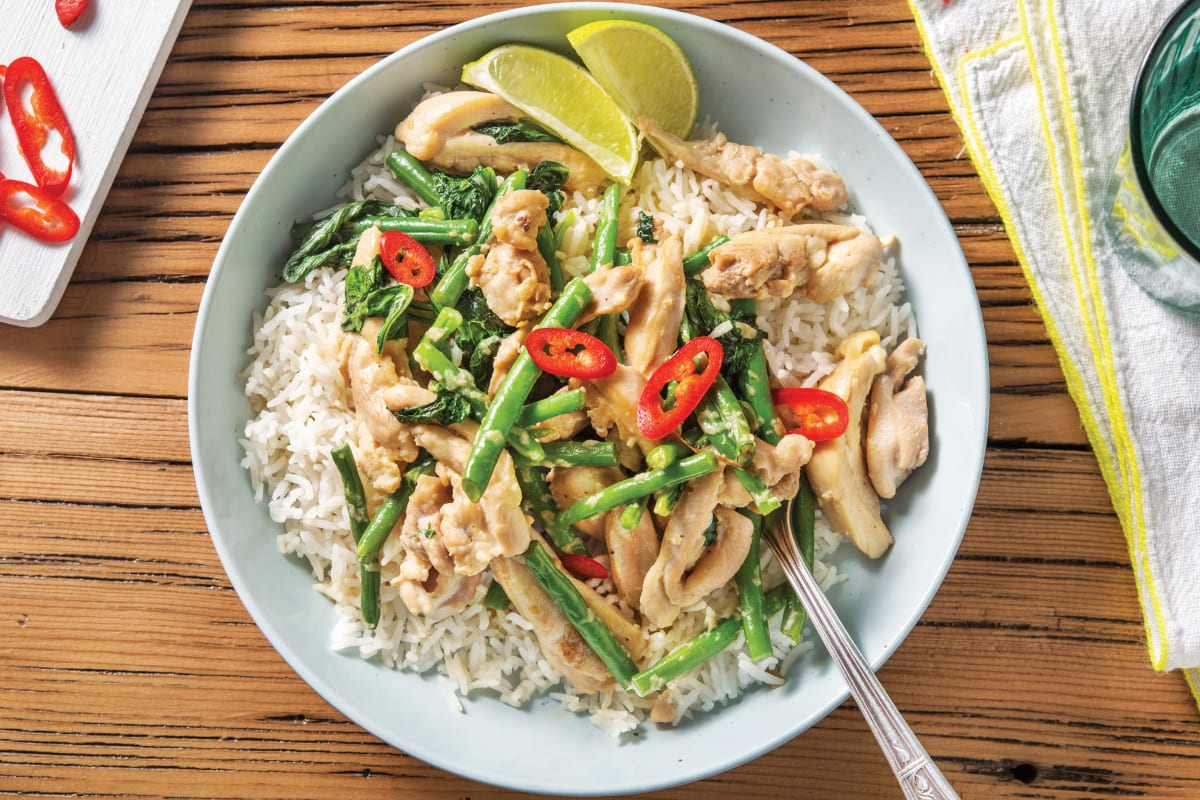 Thai Lemongrass Coconut Chicken Recipe Hellofresh