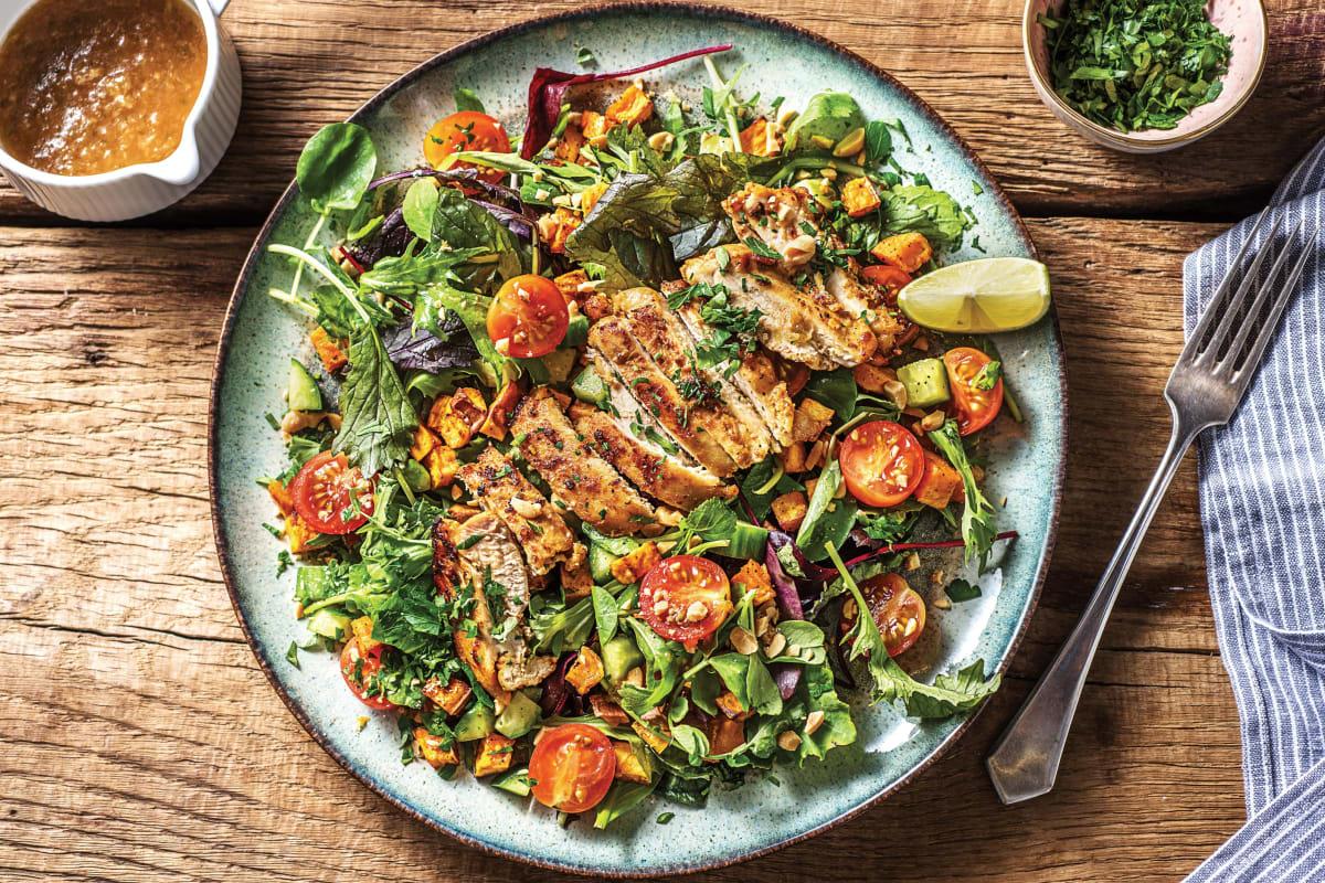 Thai-Style Chicken & Roast Sweet Potato Salad