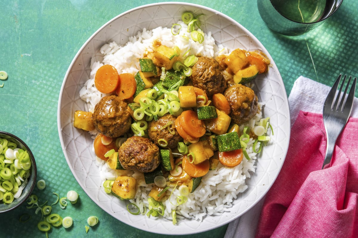 Thai Yellow Beef Meatball Curry