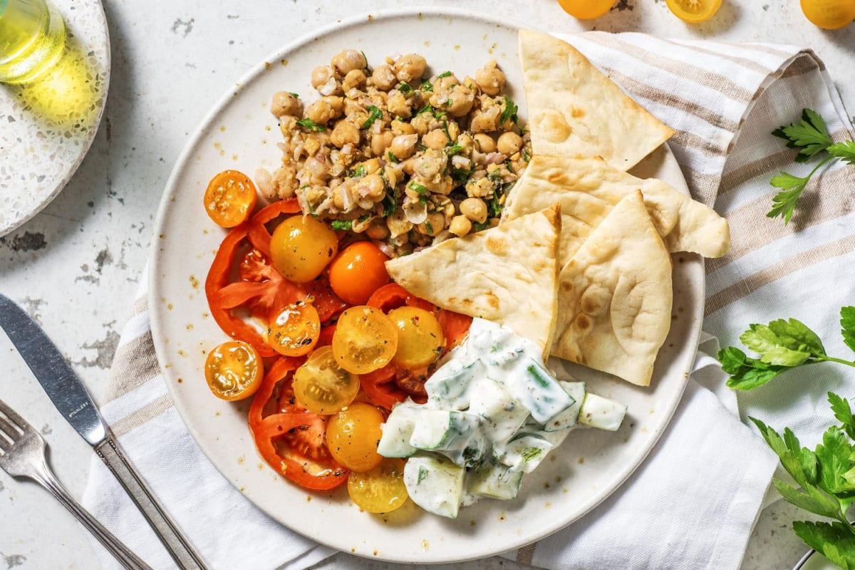 Midden-Oosters gekruide tomaten met kikkererwten