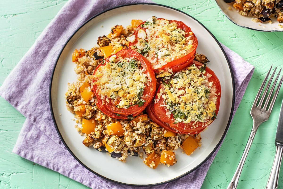 Feta and Parsley Baked Tomatoes