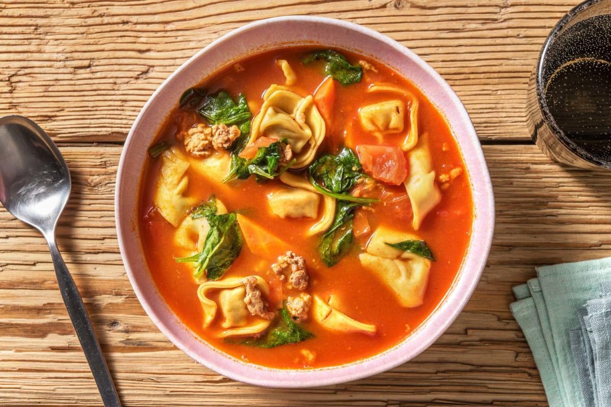 Tortellini-Hackfleisch-Suppe