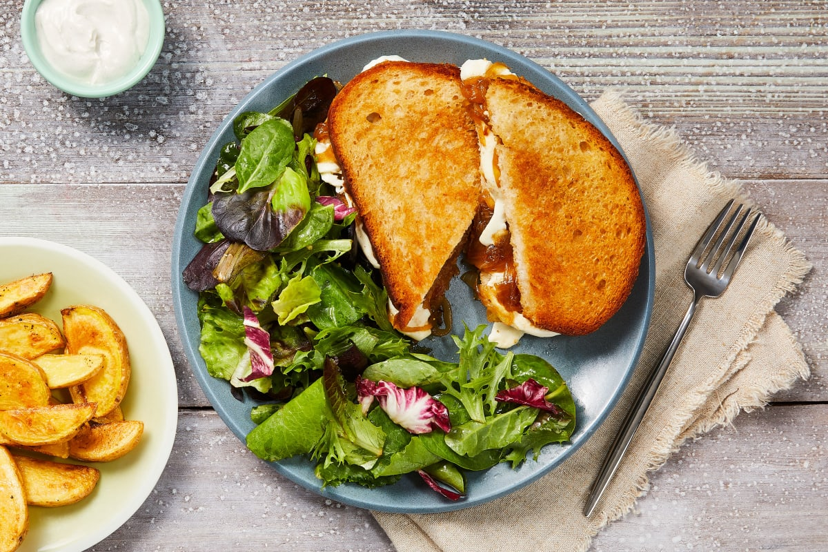 Truffled Onion Grilled Cheeses