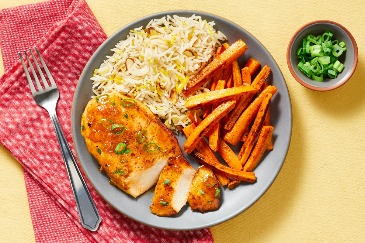 Turkish-Spiced Chicken in Apricot Sauce