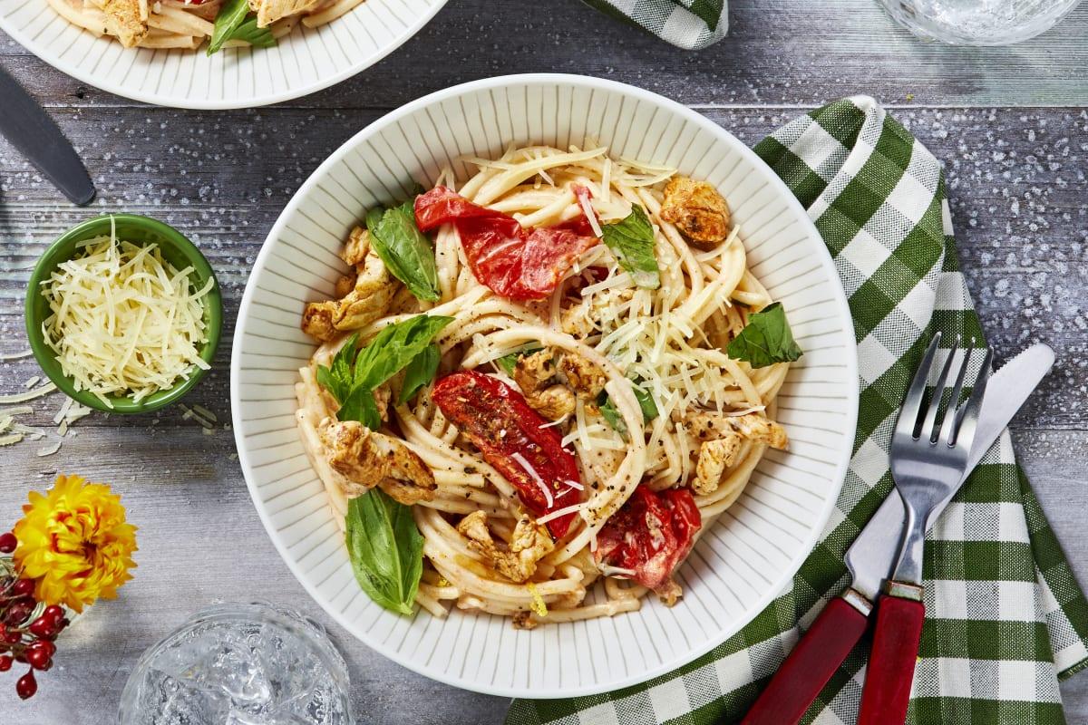 Tuscan Chicken Spaghetti