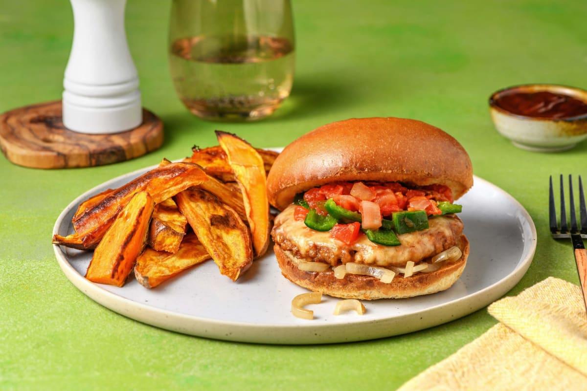 Veggie Poblano Cheddar Burger