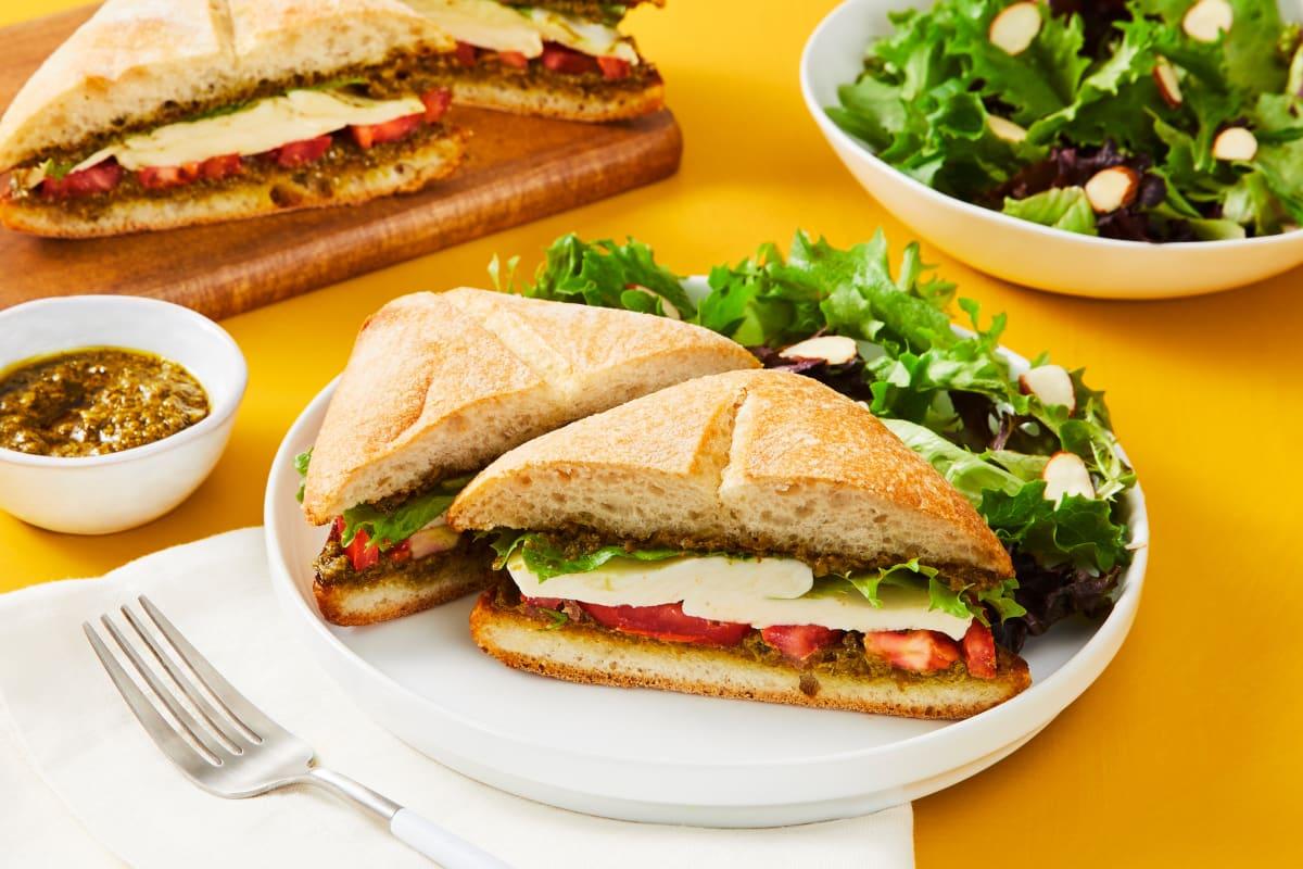Pesto Caprese Sandwiches