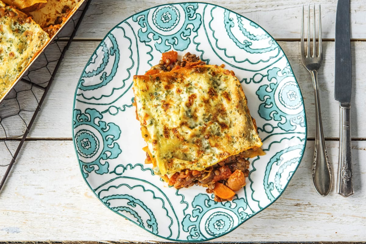 Veggie Lasagne With Mushrooms Recipe Hellofresh
