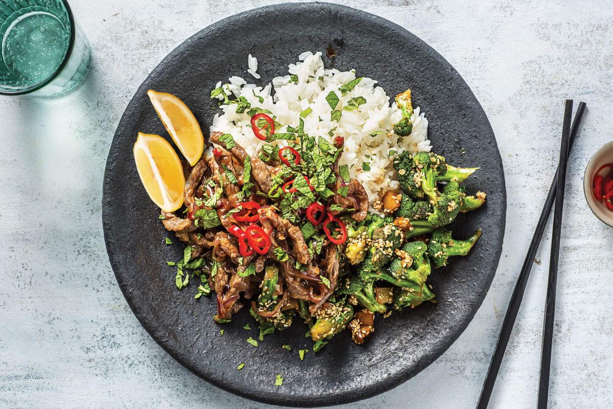 Vietnamese Beef & Sesame Broccoli