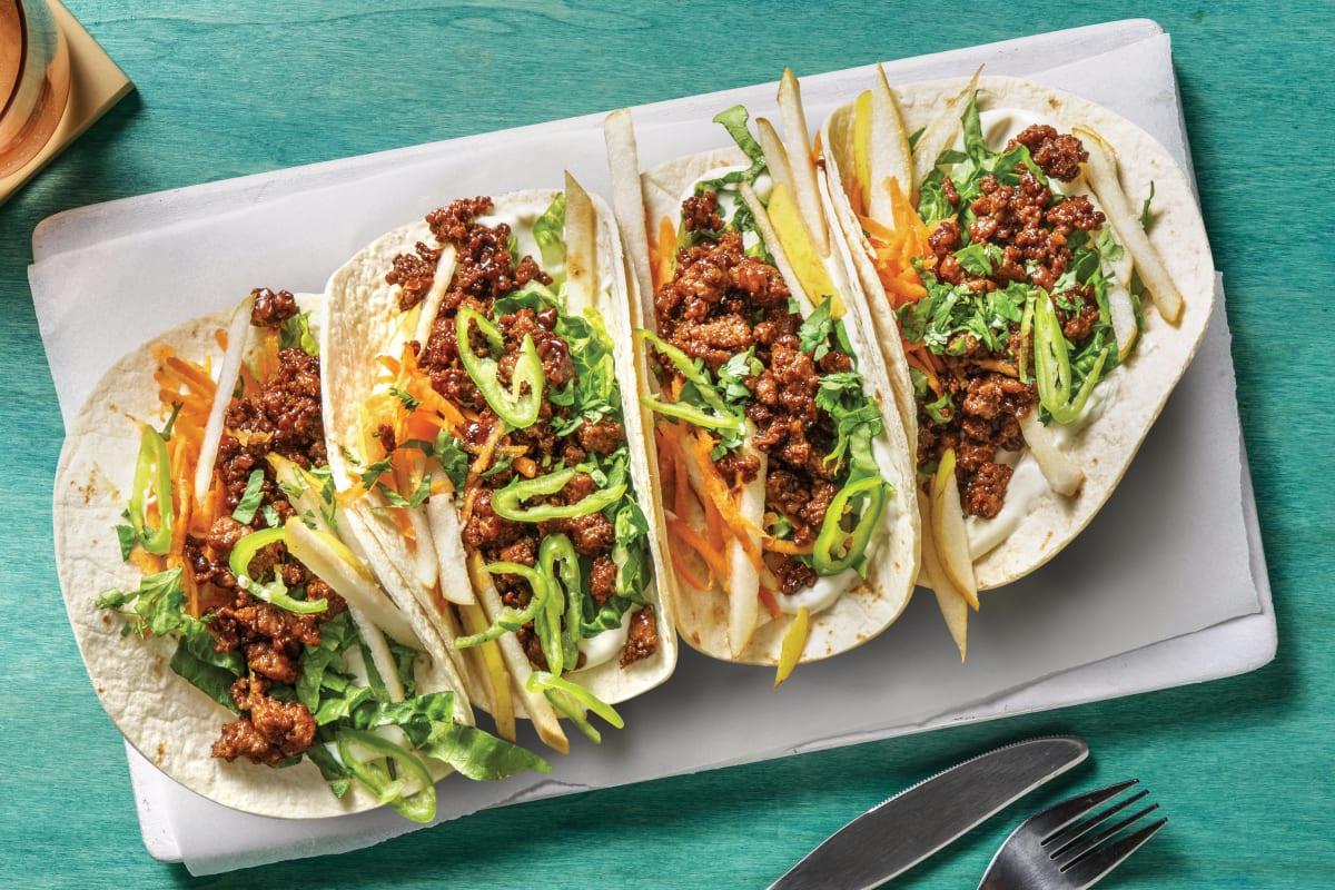 Quick Vietnamese-Style Pork & Pear Tacos