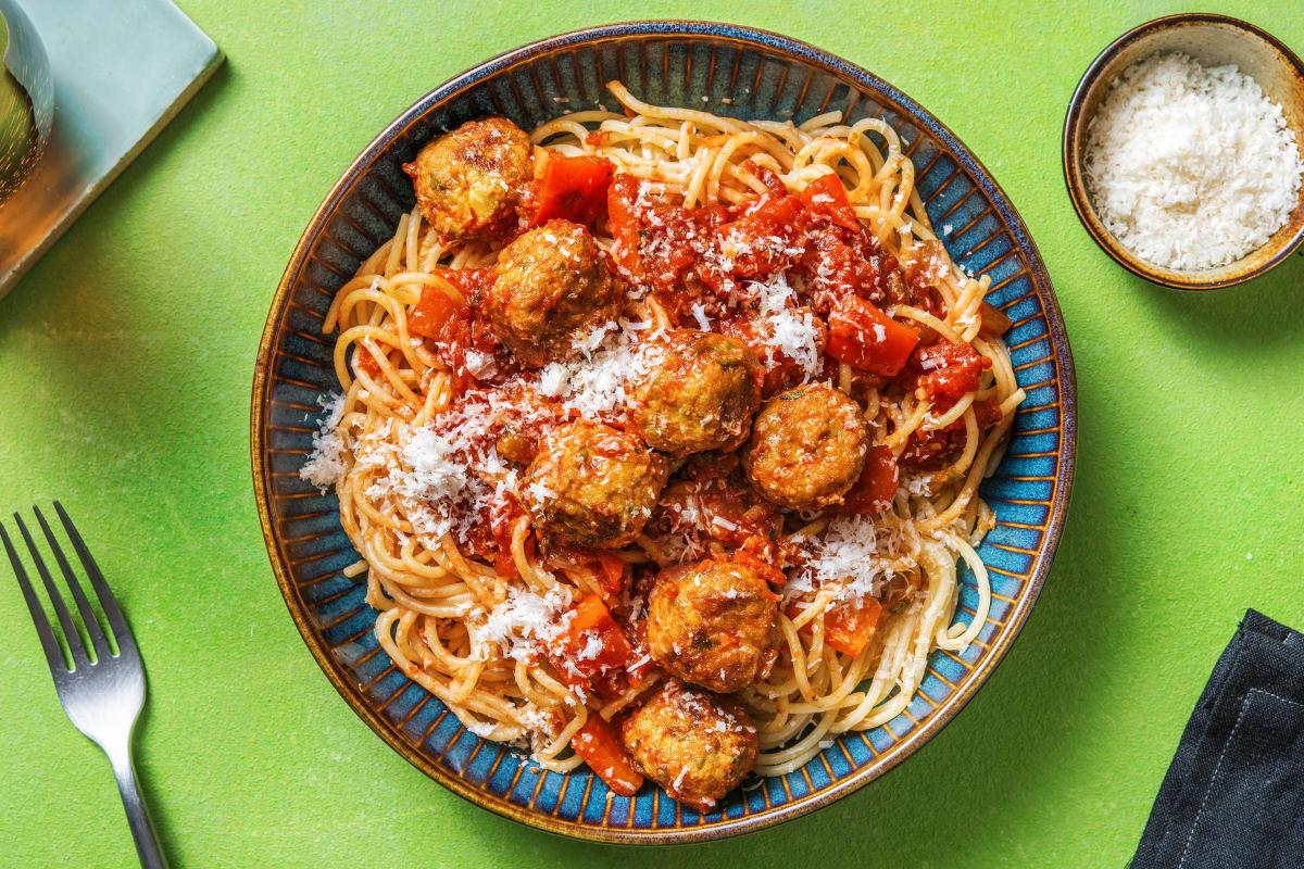 Spaghetti & Plant Based Meatballs