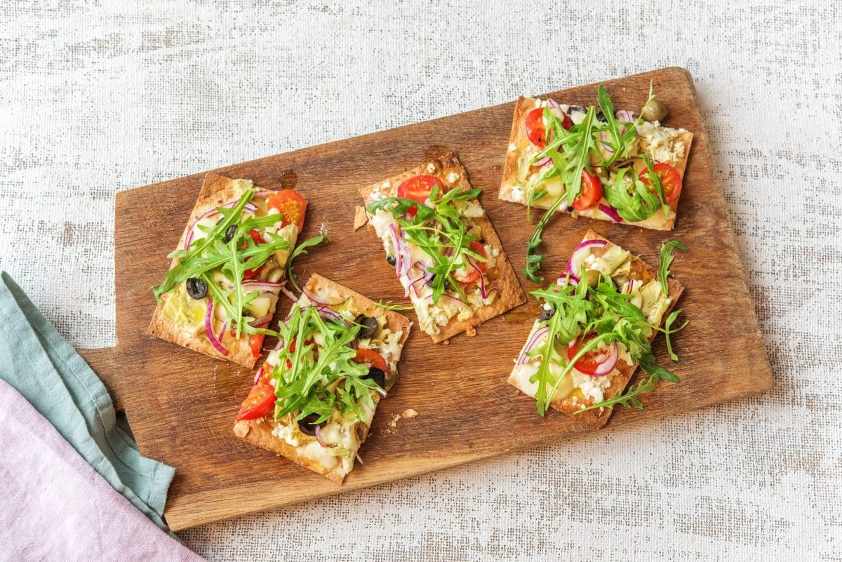 Greek Salad Flatbreads